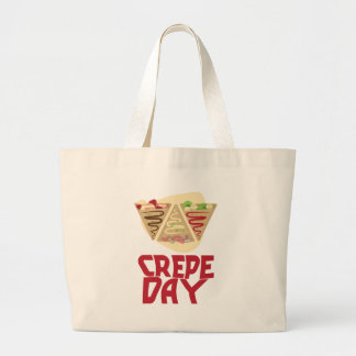 2nd February - Crepe Day - Appreciation Day Large Tote Bag