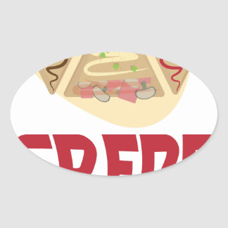 2nd February - Crepe Day - Appreciation Day Oval Sticker