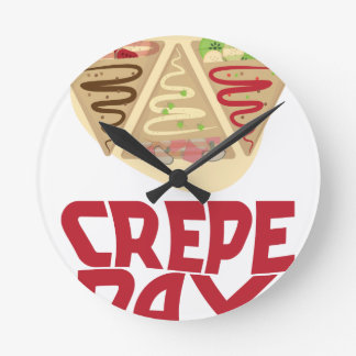 2nd February - Crepe Day - Appreciation Day Round Clock
