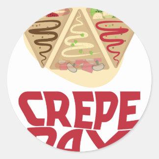 2nd February - Crepe Day - Appreciation Day Round Sticker
