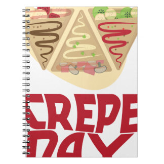 2nd February - Crepe Day - Appreciation Day Spiral Note Books