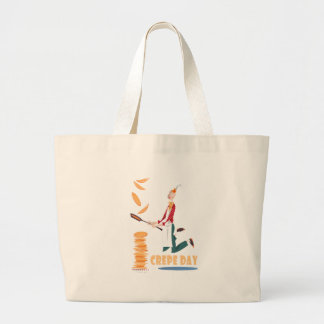 2nd February - Crepe Day Large Tote Bag