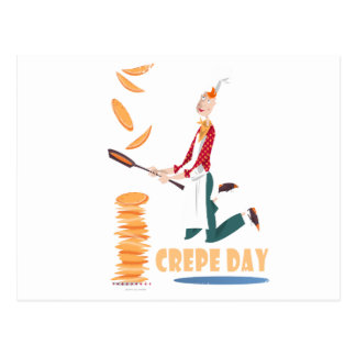2nd February - Crepe Day Postcard