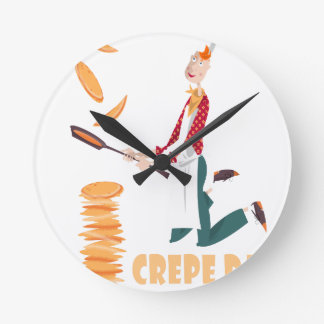 2nd February - Crepe Day Round Clock
