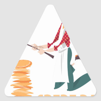 2nd February - Crepe Day Triangle Sticker