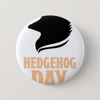 2nd February - Hedgehog Day 2 Inch Round Button