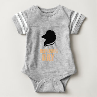 2nd February - Hedgehog Day Baby Bodysuit