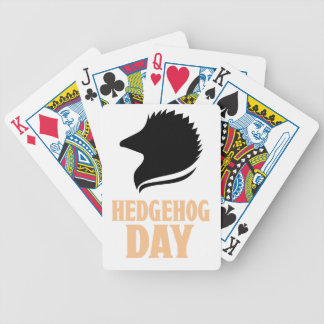 2nd February - Hedgehog Day Bicycle Playing Cards