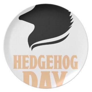 2nd February - Hedgehog Day Plate