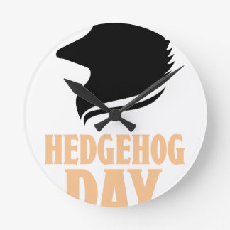 2nd February - Hedgehog Day Round Clock