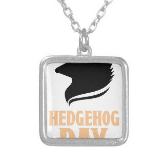 2nd February - Hedgehog Day Silver Plated Necklace