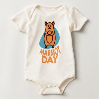 2nd February - Marmot Day - Appreciation Day Baby Bodysuit