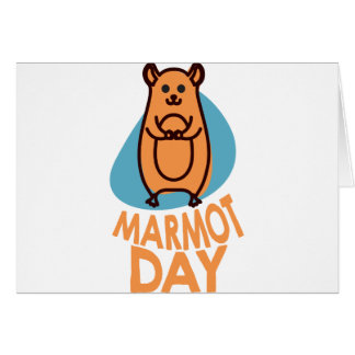 2nd February - Marmot Day - Appreciation Day Card