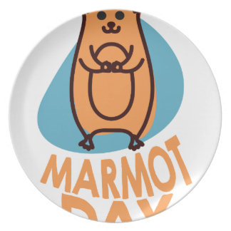 2nd February - Marmot Day - Appreciation Day Dinner Plates