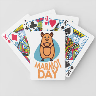 2nd February - Marmot Day - Appreciation Day Poker Deck