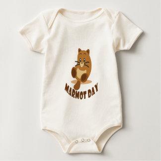 2nd February - Marmot Day Baby Bodysuit