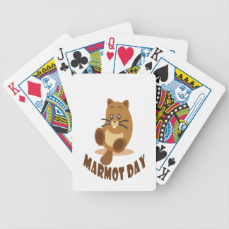 2nd February - Marmot Day Bicycle Playing Cards