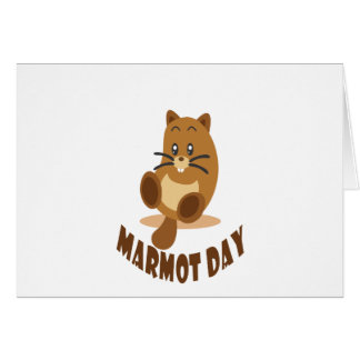 2nd February - Marmot Day Card
