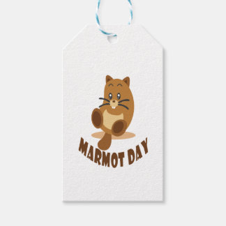 2nd February - Marmot Day Pack Of Gift Tags