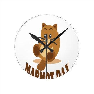 2nd February - Marmot Day Round Clock