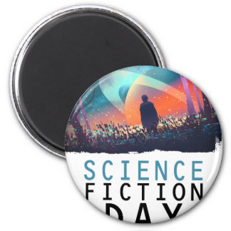 2nd February - Science Fiction Day 2 Inch Round Magnet