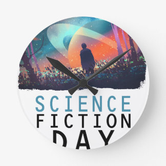 2nd February - Science Fiction Day Round Clock