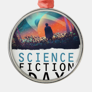 2nd February - Science Fiction Day Silver-Colored Round Ornament