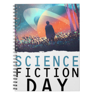 2nd February - Science Fiction Day Spiral Notebook