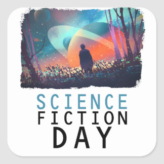 2nd February - Science Fiction Day Square Sticker