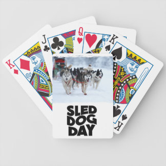 2nd February - Sled Dog Day Bicycle Playing Cards