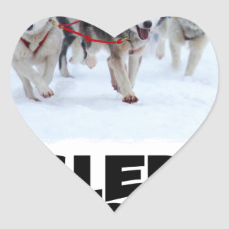 2nd February - Sled Dog Day Heart Sticker
