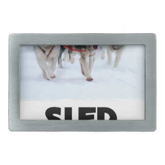 2nd February - Sled Dog Day Rectangular Belt Buckle