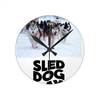2nd February - Sled Dog Day Round Clock