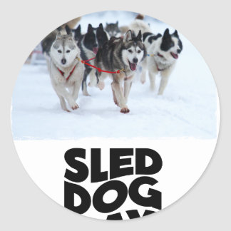 2nd February - Sled Dog Day Round Sticker