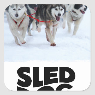 2nd February - Sled Dog Day Square Sticker