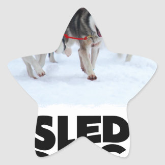 2nd February - Sled Dog Day Star Sticker