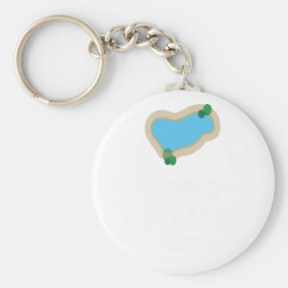2nd February - World Wetlands Day Basic Round Button Keychain