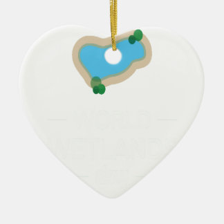 2nd February - World Wetlands Day Ceramic Ornament