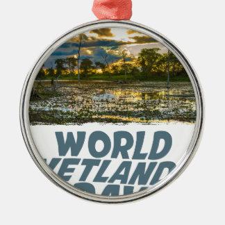 2nd February - World Wetlands Day Metal Ornament