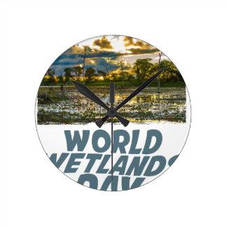 2nd February - World Wetlands Day Round Clock