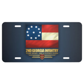 2nd Georgia Infantry License Plate