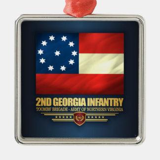 2nd Georgia Infantry Metal Ornament
