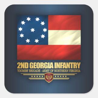 2nd Georgia Infantry Square Sticker