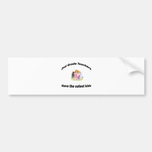 2nd grade and kids bumper sticker