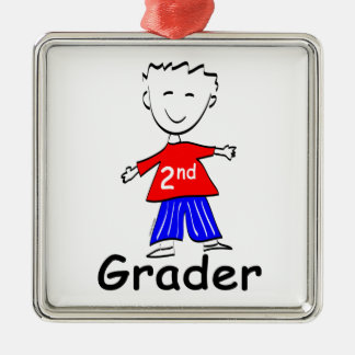 2nd Grade Boy Metal Ornament