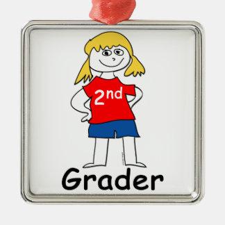 2nd Grade Girl Metal Ornament