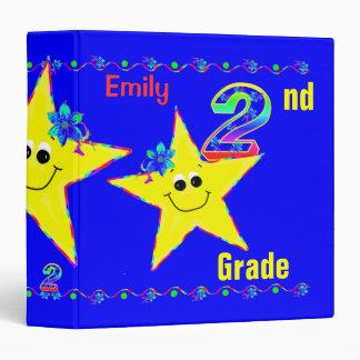 2nd Grade School Binders Smiley Stars