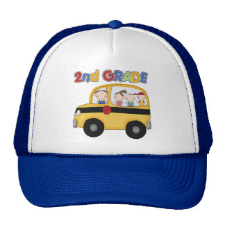 2nd Grade School Bus Trucker Hat