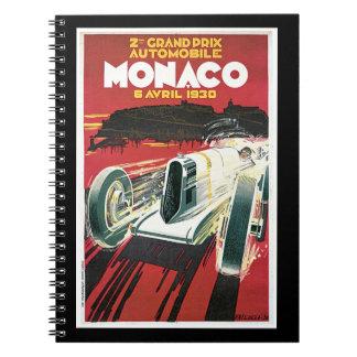 2nd Grand Prix Automobile de Monaco Spiral Note Books