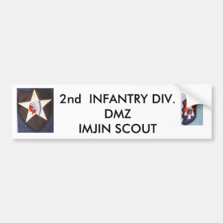 2nd Inf Div 001, 2nd Inf Div 002, 2nd  INFANTRY... Bumper Sticker
